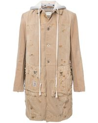Greg Lauren - Hooded Midi Coat - Lyst