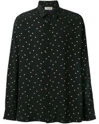 Saint Laurent - Embroidered Motifs Shirt - Lyst