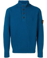 Stone Island - Buttoned Up Jumper - Lyst