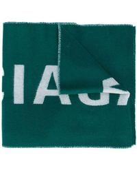Balenciaga - Logo Knitted Scarf - Lyst