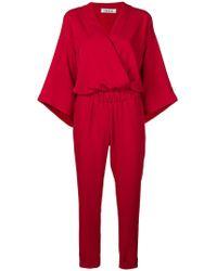 P.A.R.O.S.H. - Kimono Style Wrap Jumpsuit - Lyst