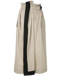 Gentry Portofino - High-waist Belted Skirt - Lyst