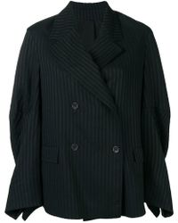 Nehera - Double-breasted Striped Jacket - Lyst