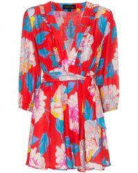 A Peace Treaty - Talla V-neck Belted Mini Dress - Lyst