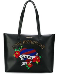 Love Moschino - Sequin Embroidered Tote - Lyst