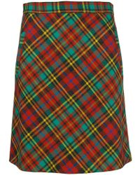 Etro - Plaid Skirt - Lyst