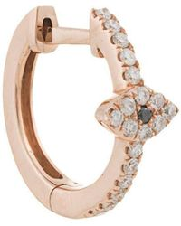 Jacquie Aiche - 14kt Rose Gold Pave Diamond Eye Center Mini Hoop - Lyst