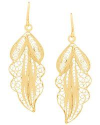 Wouters & Hendrix - Filigree Leaf Earrings - Lyst