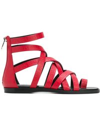 Balmain - Crossover Strappy Sandals - Lyst