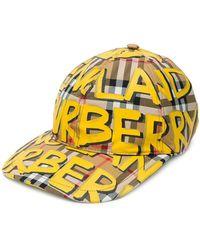 Burberry - Graffiti-print Vintage Check Baseball Cap - Lyst