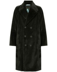 Guild Prime - Double Breasted Faux Fur Coat - Lyst