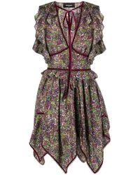 DSquared² - Flared Asymmetric Dress - Lyst