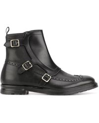 Alexander McQueen - Buckled Boots - Lyst