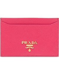 Prada - Logo Cardholder Wallet - Lyst
