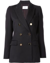 Astraet - Double Breasted Blazer - Lyst
