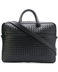 Bottega Veneta - Intrecciato Weave Leather Briefcase - Lyst