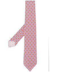 Kiton - Corbata con motivo de rombos y flores - Lyst
