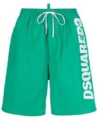 DSquared² - Logo Printed Swim Shorts - Lyst
