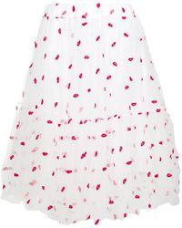 P.A.R.O.S.H. - Lips Print Skirt - Lyst