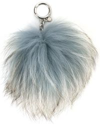 MICHAEL Michael Kors - Fur Ball Key-chain - Lyst