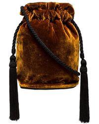 Hunting Season - Gold Tula Velvet Tassel Pouch - Lyst
