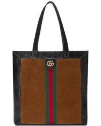 Gucci - Ophidia Suede Large Tote - Lyst