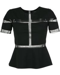 Gloria Coelho - Sheer Panels Top - Lyst