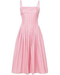 Rosetta Getty - Pleat Camisole Dress - Lyst