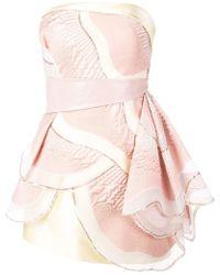 Rubin Singer - Strapless Hand Draped Dress - Lyst