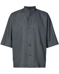 Homme Plissé Issey Miyake - High Standing Collar Shirt - Lyst