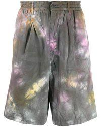 Paura - Patterned Bermuda Shorts - Lyst