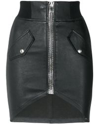 RTA | Zipped Biker Skirt | Lyst