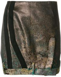 A.F.Vandevorst - Deconstructed Metallic (grey) Skirt - Lyst