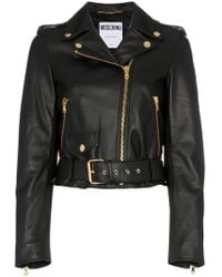 Moschino - Couture Logo Leather Biker Jacket - Lyst