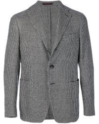 The Gigi - Houndstooth Print Blazer - Lyst