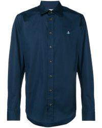 Vivienne Westwood - Рубашка Кроя Слим С Вышитым Логотипом - Lyst