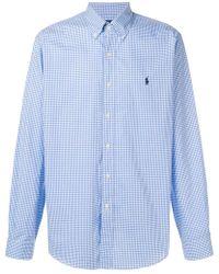 Ralph Lauren - Camisa a cuadros con botones - Lyst