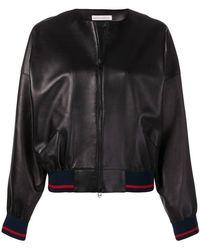 Inès & Maréchal - Leather Bomber Jacket - Lyst