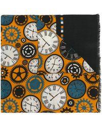 Fefe - Clock Print Scarf - Lyst