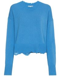 Helmut Lang - Distressed Crew Neck Jumper - Lyst