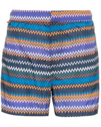 Missoni - Zig-zag Stripe Print Swim Shorts - Lyst