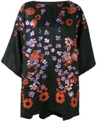 Talbot Runhof - Floral Embroidered Tunic - Lyst