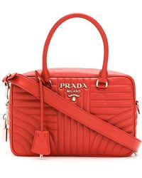 Prada - All Designer Products - 1bb1132d91vmoi F0011 Leather/fur/exotic Skins->calf Leather - Lyst