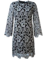 Blumarine | Floral Lace Shift Dress | Lyst