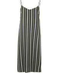 Guild Prime - Striped Midi Slip Dress - Lyst
