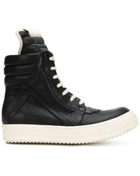Rick Owens - Lace Up Bootie Trainers - Lyst