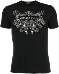 Versace Jeans - Tiger Logo Crew T Shirt - Lyst
