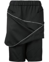 Moohong | Zip Front Track Shorts | Lyst