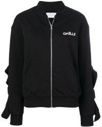Gaëlle Bonheur - Frill Sleeve Bomber Jacket - Lyst