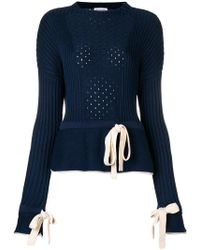 Sonia Rykiel - Perforated Knit Jumper - Lyst